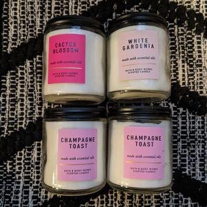 4 Bath & body work candles.